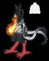 OC Ref: Flamel the Grem2 by SilverRomance