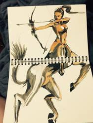 Centaur Archer by jaguanna