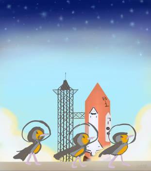 Space Birds!! by Sereida-Arts