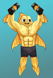 Commission_Strong Fish by Sereida-Arts