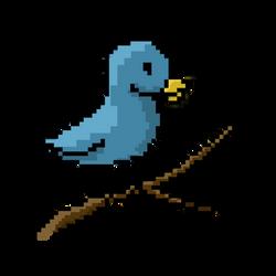 Pixel Birdy! by Sereida-Arts