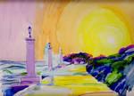 Adriatic Coast Watercolour by 80sdisco