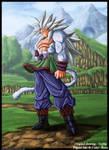 Son Goku : Dragon Ball AF SSJ5 by diabolumberto