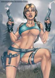 Lara Croft by diabolumberto