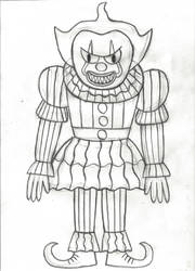 Inktober Day 30: Pennywise The Clown by horrorshowfreak