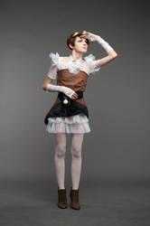 Free Stock - Steampunk girl 1 by FlexDreams