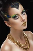 Golden Peacock by FlexDreams