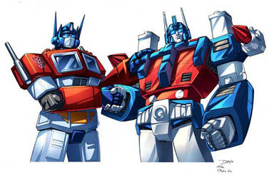 Optimus Prime and Ultra magnus by Dan-the-artguy