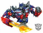 Optimus Prime movie with sword by Dan-the-artguy