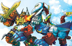 Predaking vs. Skylynx by Dan-the-artguy