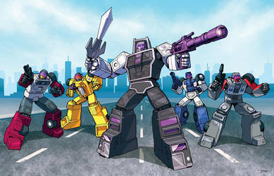 Stunticons rule the road! by Dan-the-artguy