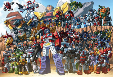 Autobots 85 groupshot by Dan-the-artguy
