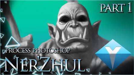 Ner'Zhul (WoW) - Painting process Photoshop CC by yax94470