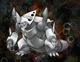Mega Aggron by Macuarrorro