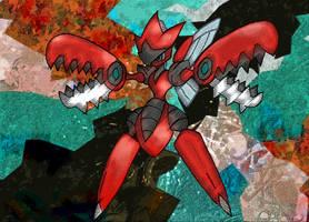 Mega Scizor by Macuarrorro
