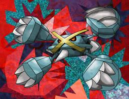 Mega Metagross by Macuarrorro