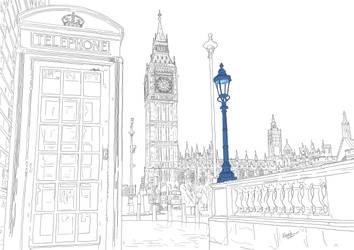 London - Big Ben Saint Stephen's Tower Parliament by funkydoodycool