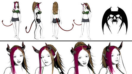 Sassy Character sheet 2014 by AnubicDarque