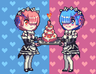 Rem and Ram by Lakelezz