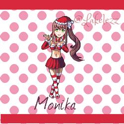 Merry Monika from Doki Doki Literature Club! by Lakelezz