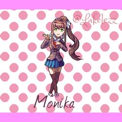 Monika from Doki Doki Literature Club! by Lakelezz