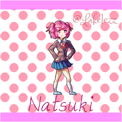Natsuki from Doki Doki Literature Club! by Lakelezz