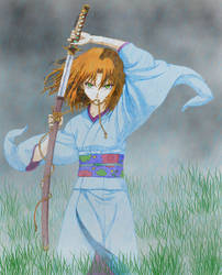 Samurai By Bastet Mrr-d5hvbrg-edit coloring by Alanna-QueenofHearts