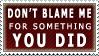 Don't Blame Me by Nemo-TV-Champion