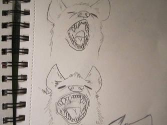 Hyena studies 1 by CaribouxSkull