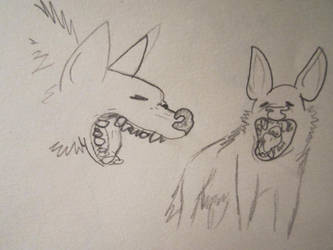 Hyena studies 3 by CaribouxSkull