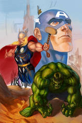 Avengers W.I.P. by shinkusuarez88