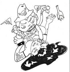 Monkey Knife Fight by zonbi-ant