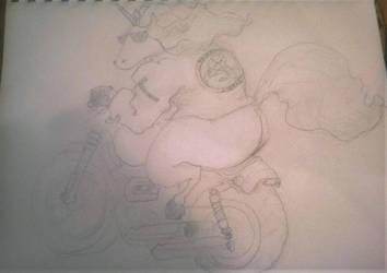 Unicorn Biker by zonbi-ant