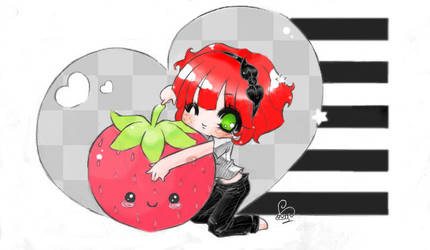 ArtRequest Strawberry Freckles by CookieLin