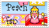 Peach fan stamp by Names-Tailz