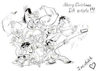 Christmas group selfie by Ixentrick