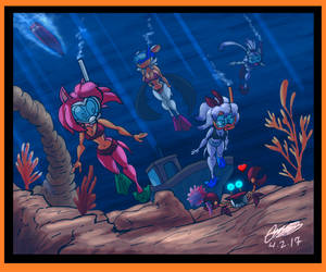 Sonic - Scuba Diving Maidens by GearGades