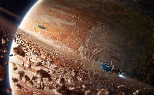 Space ride by DamianKrzywonos
