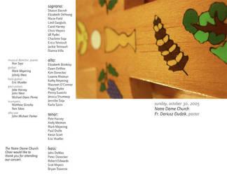 Choir Concert 2 Oct. 2005 by vagari