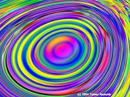 Rainbow Neon Ringers by tijir