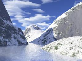 Frozen River Mountains by tijir