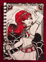 Inktober Day #5: Urbosa's Fury by hollarity