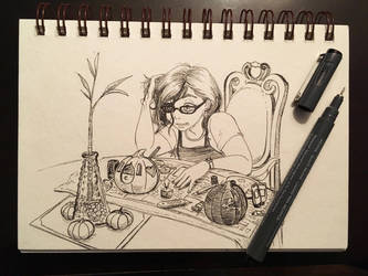 Inktober day #12: Having a Gourd Time by hollarity