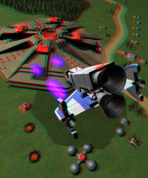 Xevious 3D (anaglyph) by somewhereishere