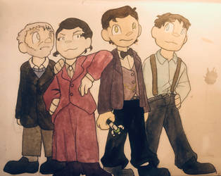 Marry Poppins and 3 old men (doctor who AU) by theonefoxyroxy