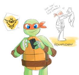 TMNT PokemonGO Mikey by ColonelCheru