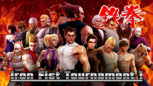 TEKKEN 1 - Iron Fist Tournament 1 Group Picture by Hyde209