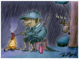 Sad Hunter Doodle by Hyde209
