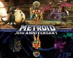 Metroid 30th Anniversary by Hyde209