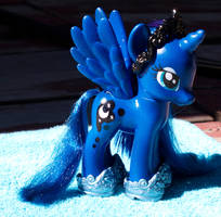 Princess Luna Fashion Pony Custom-Gauntlets/Crown by Agony-Roses